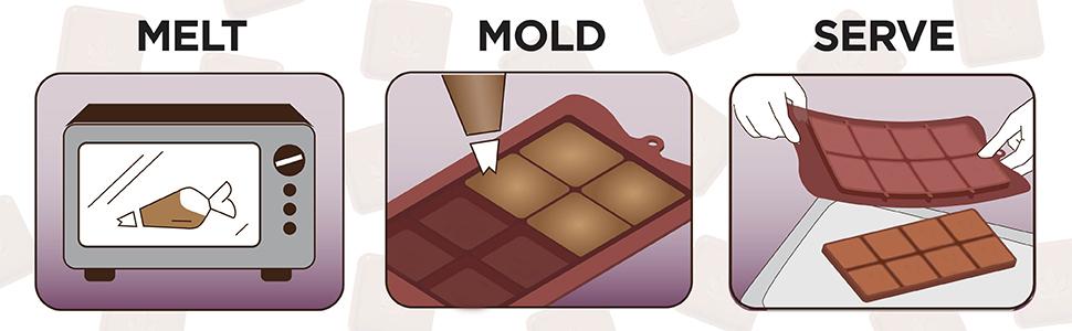 moule à chocolat moule à bonbons moule en silicone