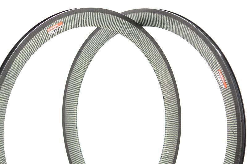 U Shape 50mm Clincher carbon bike cycling wheel rim 23mm 25mm width alloy side