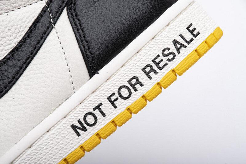 "PK God  Jordan 1 Retro High ""Not for Resale"" Varsity Maize, 861428-107"