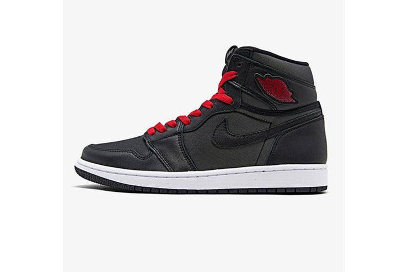 PK God Air Jordan 1 Retro High OG Black Satin Gym Red