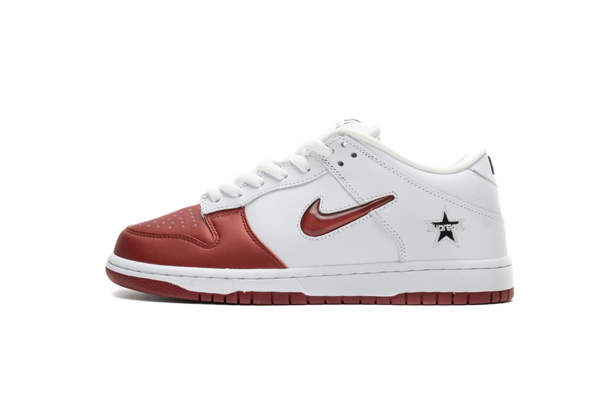 PK God Nike SB Dunk Low Supreme White Red