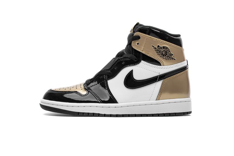 PK God  Air Jordan 1 Retro High NRG Patent Gold Toe