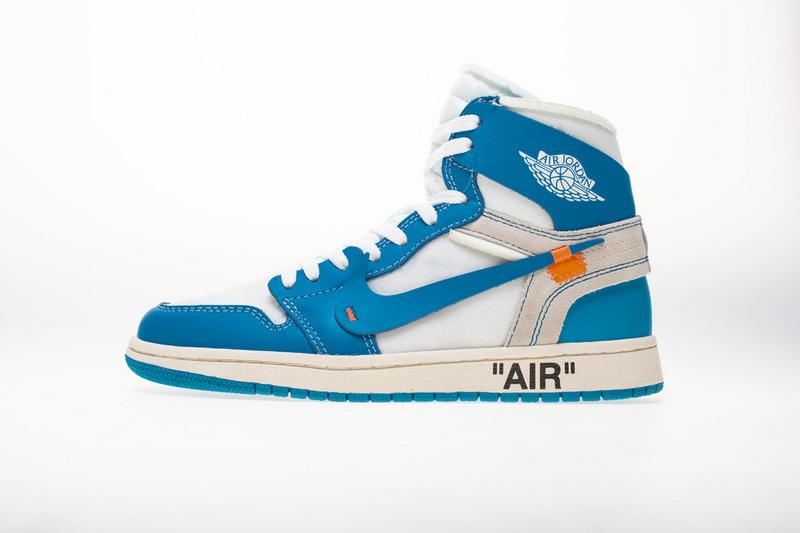 PK God  Air Jordan 1 Retro High Off-White University Blue