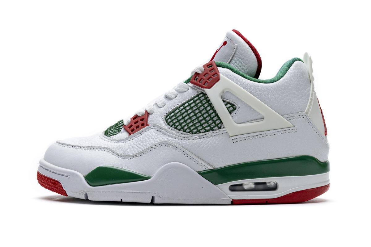PK God  Air Jordan 4 Retro White Green Red