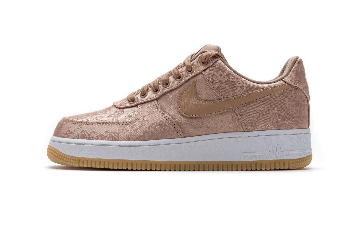 PK God Nike Air Force 1 Low Clot Rose Gold Silk