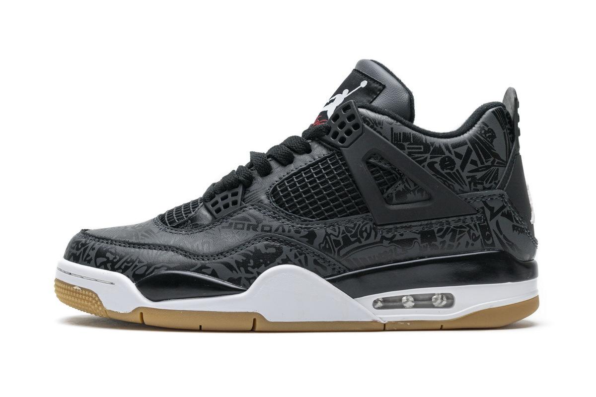 PK God  Air Jordan 4 Retro Black Laser