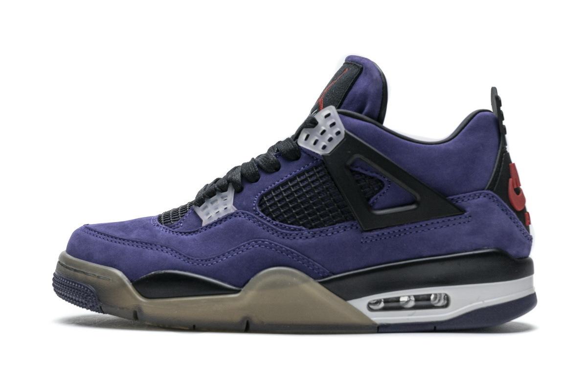 PK God Air Jordan 4 Retro Travis Scott Purple