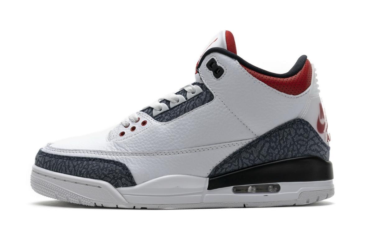 PK God Air Jordan 3 Retro SE Fire Red Denim