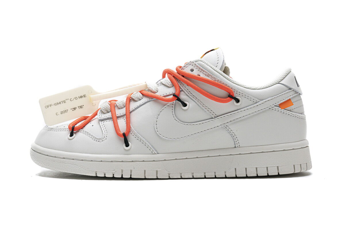 PK God Nike SB Dunk Low OFF-White White Black Orange