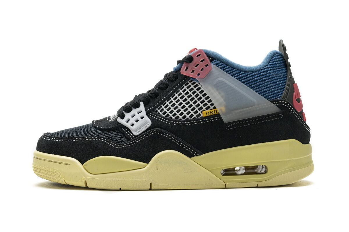 PK God  Air Jordan 4 Retro Union Off Noir Black
