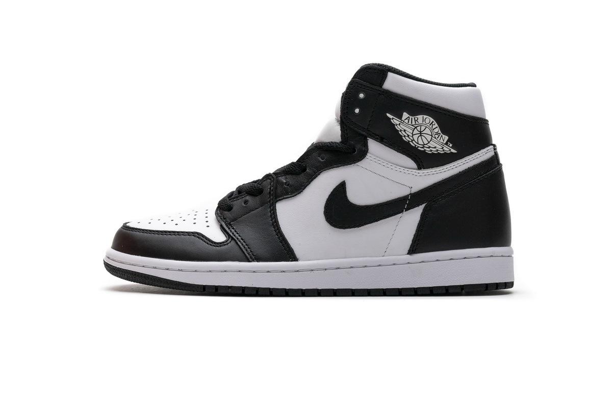 PK God Air Jordan 1 Retro High  Black White
