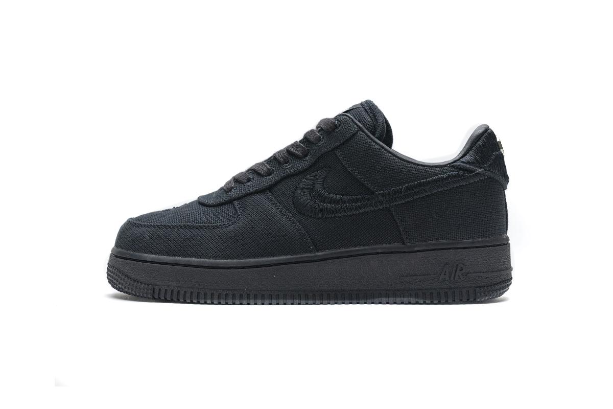 PK God Nike Air Force 1 Low Stussy Black
