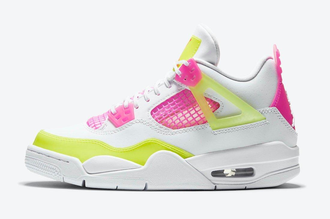 PK God  Air Jordan 4 Retro White Lemon Pink
