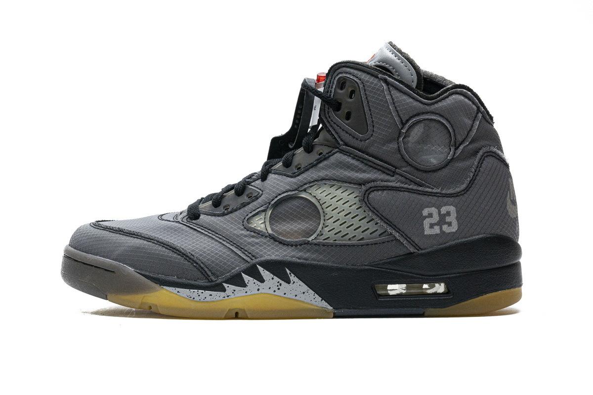 PK God Air Jordan 5 Retro Off-White Black