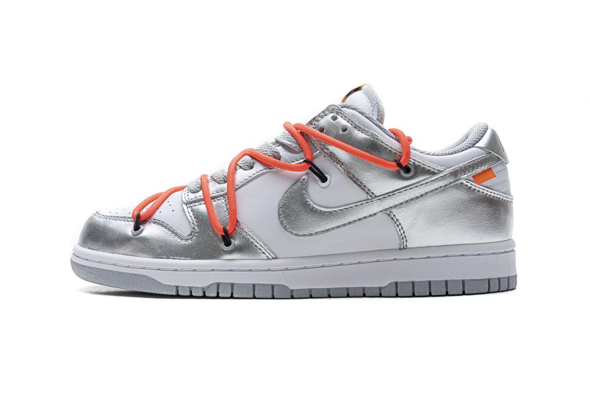 PK God Nike SB Dunk Low Silver White