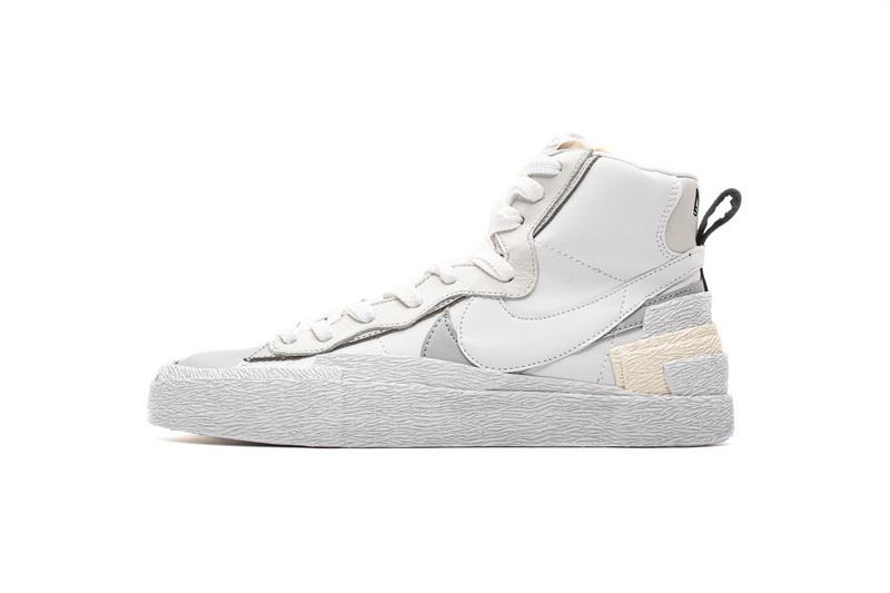 PK God Nike Blazer Mid sacai White Grey