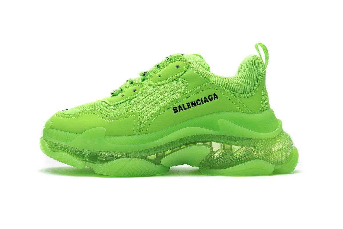 PK God  Balenciaga Triple S Fluorescent Green