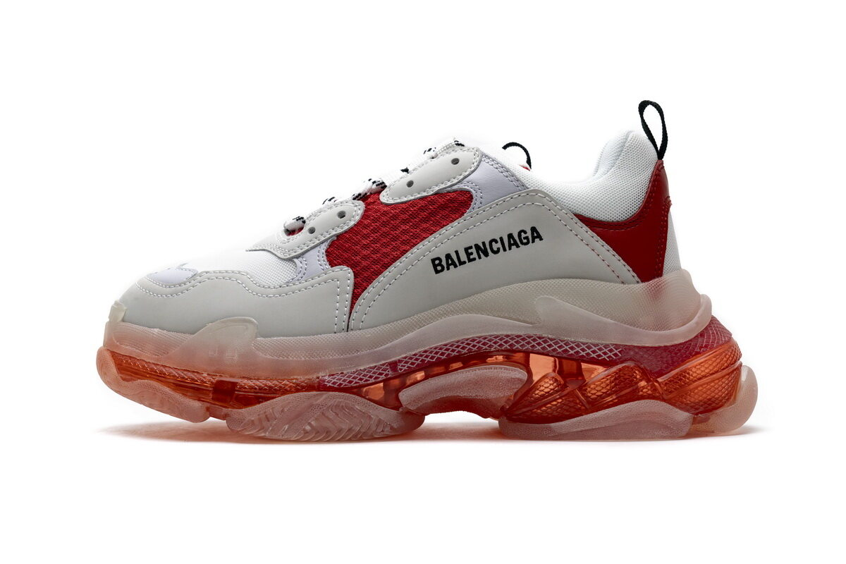 PK God  Balenciaga Triple S White Red