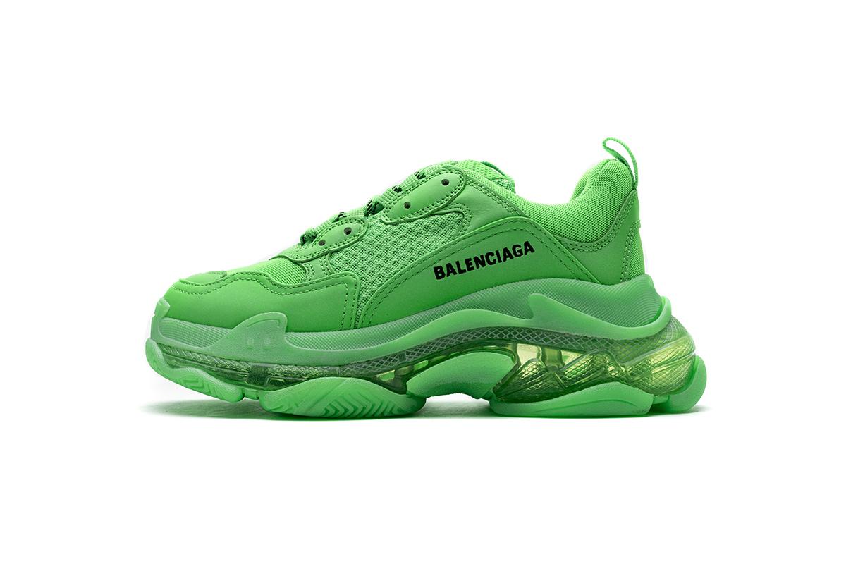 PK God Balenciaga Triple S Fluo Green