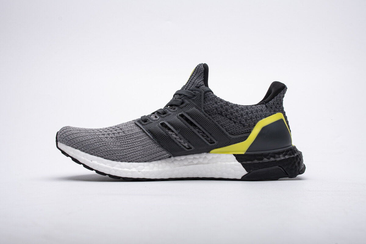 PK God adidas Ultra Boost 4.0 Grey Black Yellow