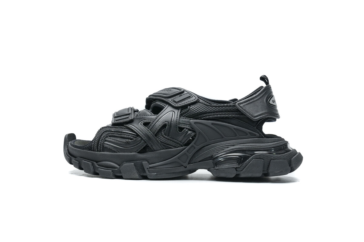 PK God Balenciaga Track Sandal Black