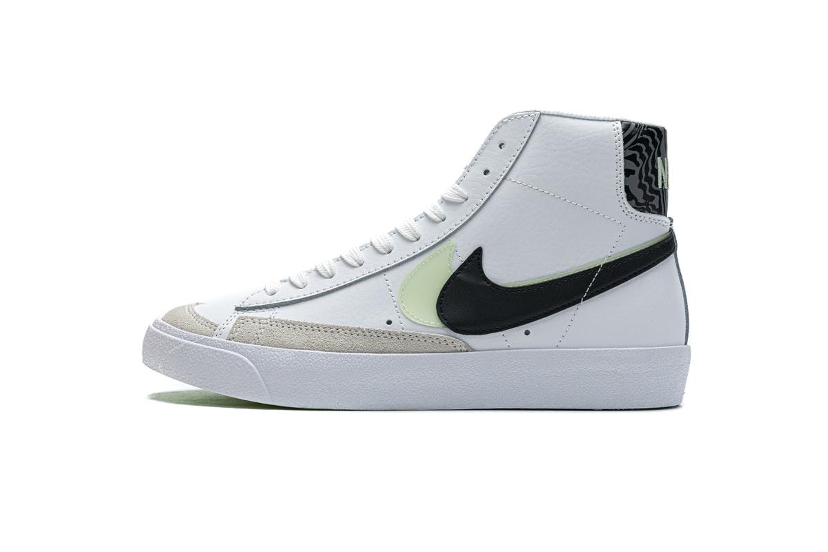 PK God  Nike Blazer Mid 77 SE GS Double Swoosh White Vapor Green