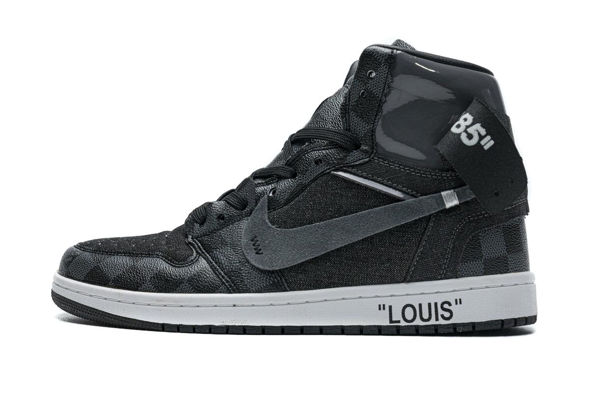 PK God  liv X Air Jordan 1 High Grey