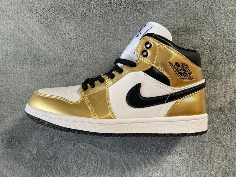 PK God  Air Jordan 1 Mid SE Metallic Gold