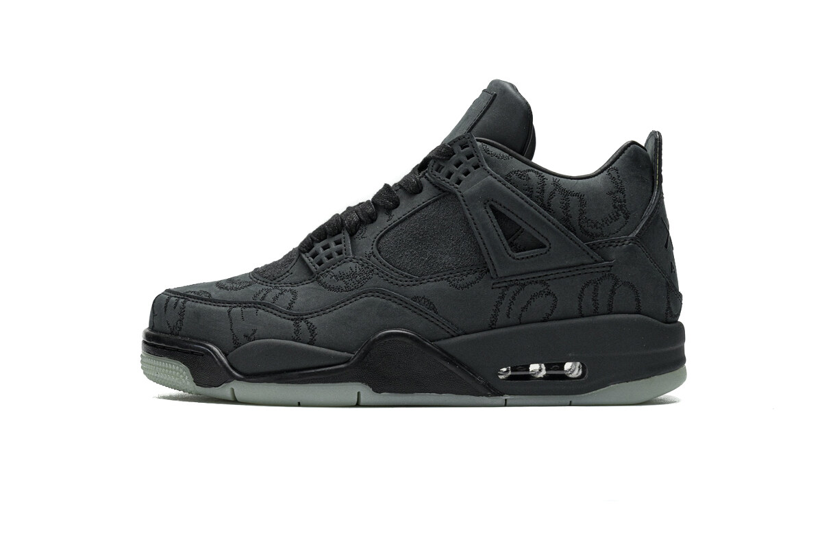 PK God Air Jordan 4 Retro Kaws Black