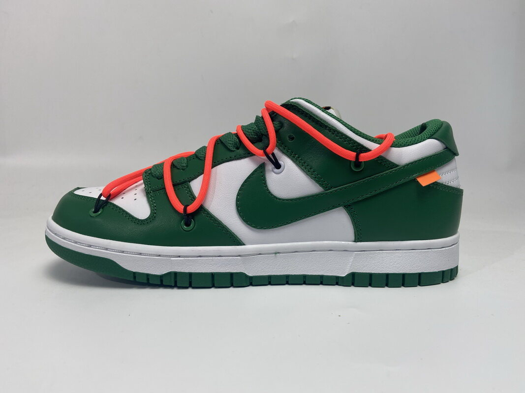 PK God Nike SB Dunk Low Off-White Pine Green