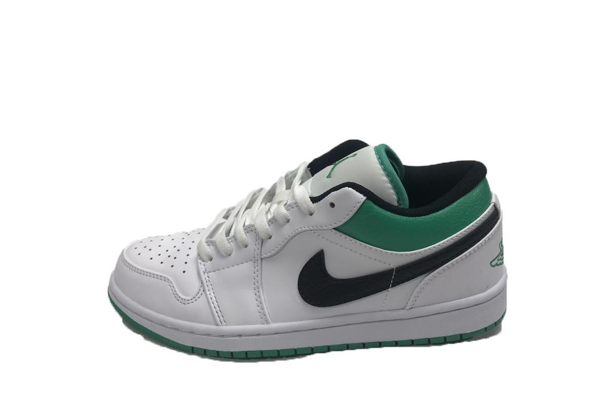 PK God Air Jordan 1 Low White Lucky Green Black