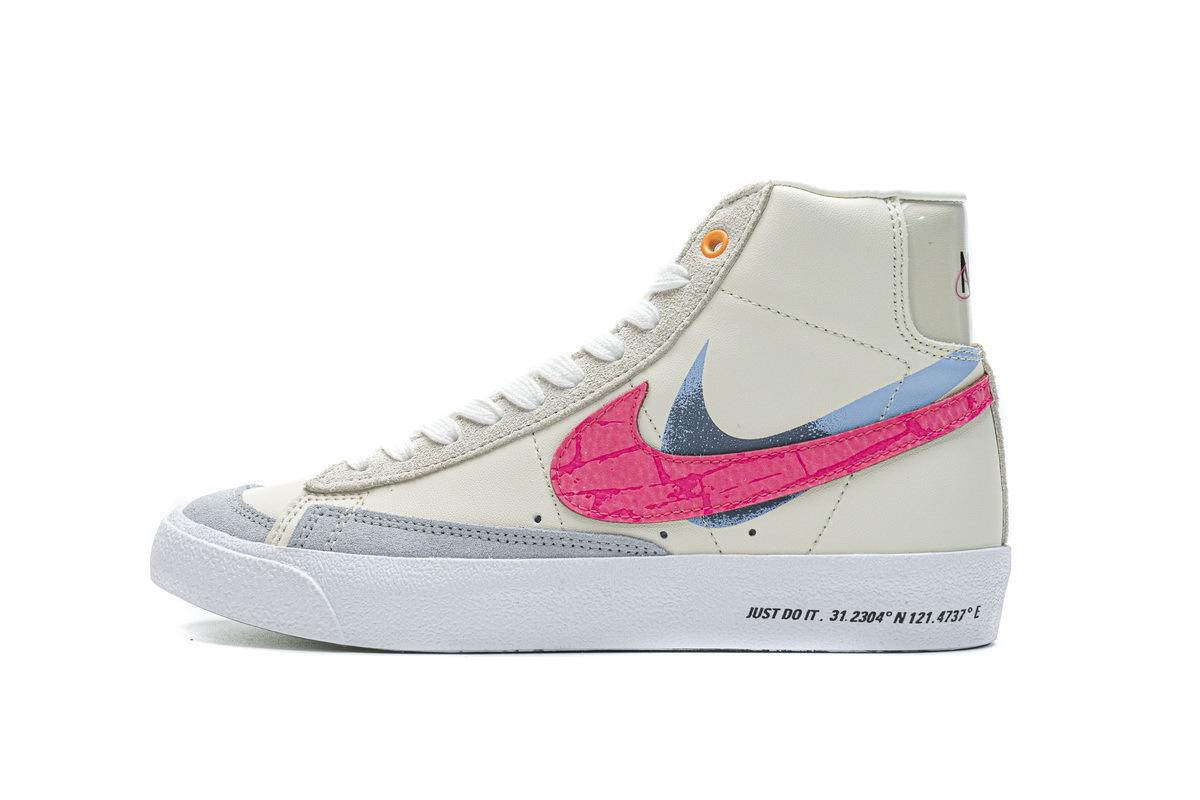 PK God Nike Blazer Mid 77 Beige Pink Blue