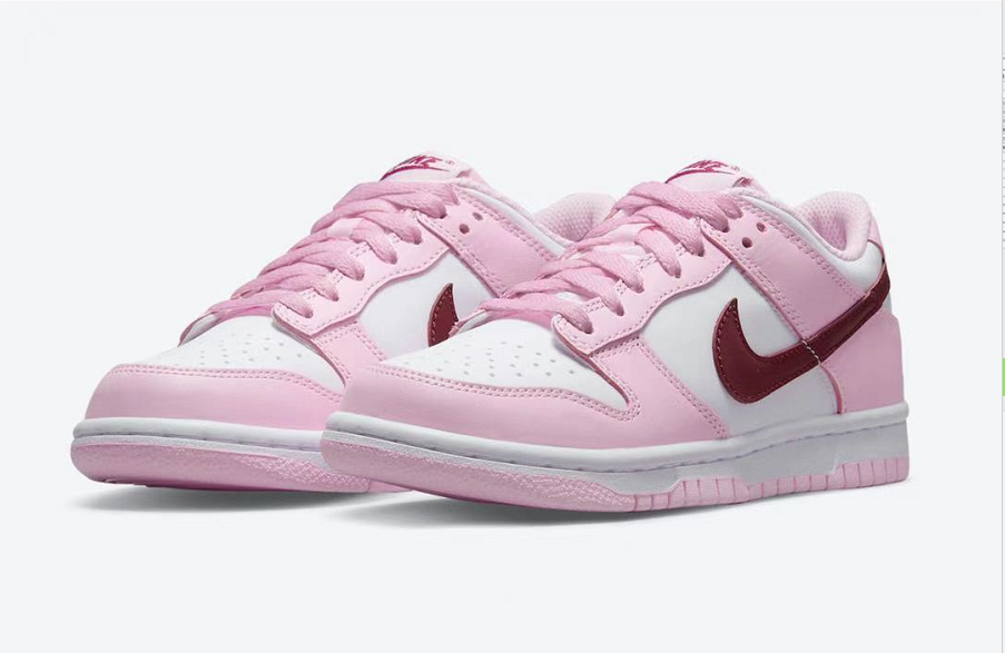 PK God Nike Dunk Low Pink Red White (GS)