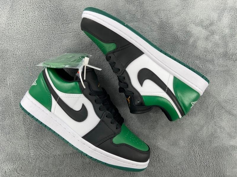PK God Air Jordan 1 Low Green Toe