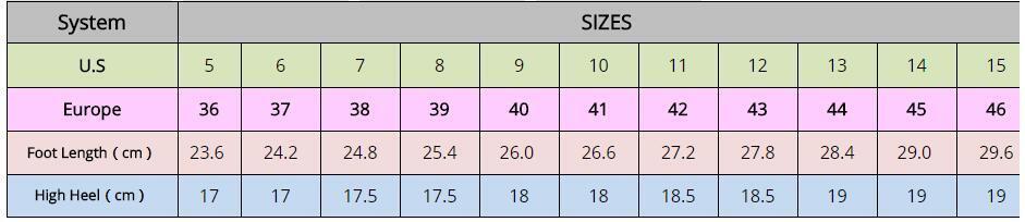 2017 Spring/Autumn Extreme High-Heel 18Cm Metal Spike Heels
