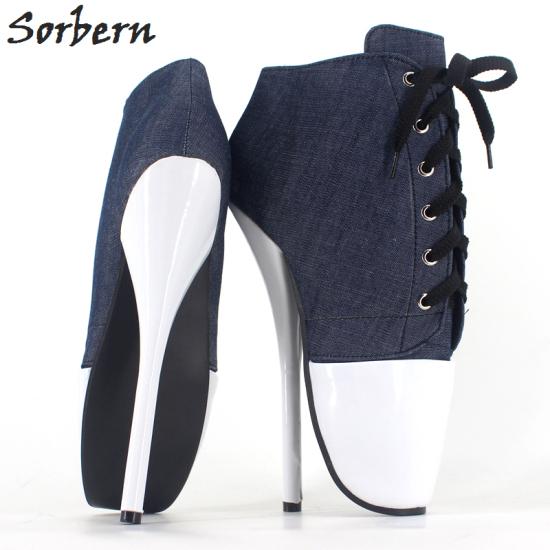 39c4ea03bff4 18 Cm High-Heeled Sexy Ballet Shoes Pumps Bdsm Jeans Pumps