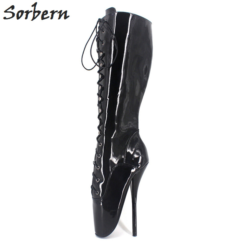 df664c7c5197 Sexy Ballet Heels 7inch Spike High Heel BDSM Unisex High Heel Boots Shoes