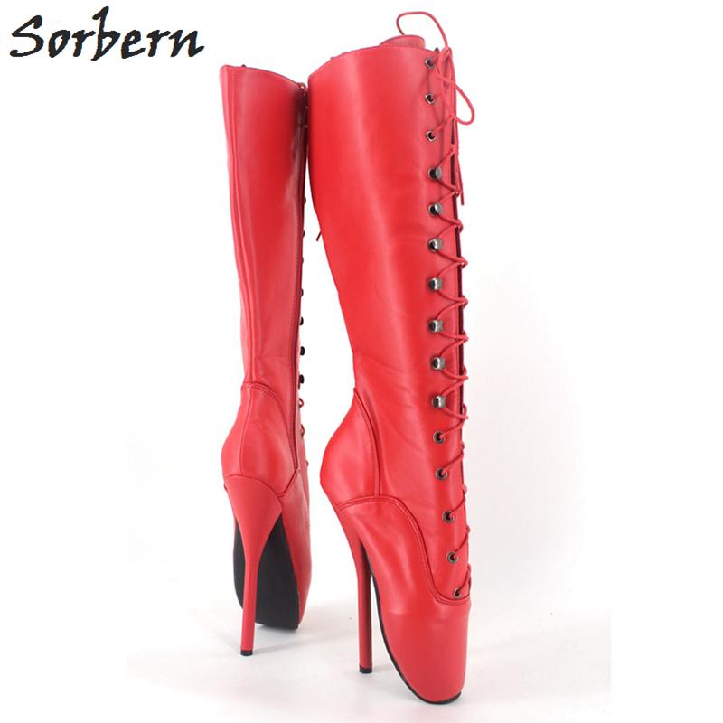 d77aaad9a74 Sexy Ballet Heels 7inch Spike High Heel BDSM Unisex High Heel Boots Shoes