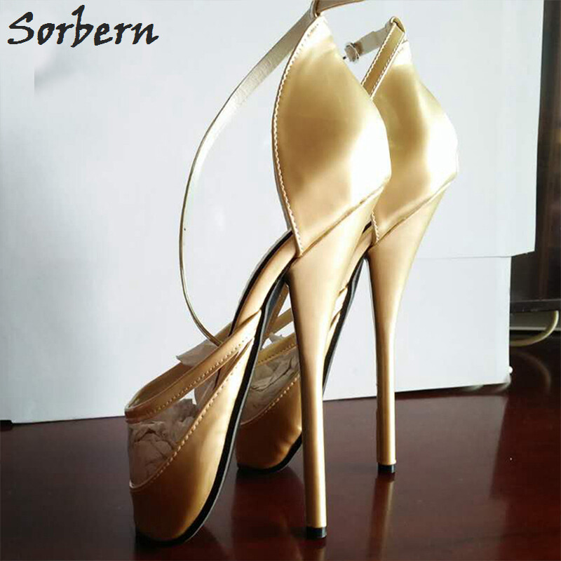 18cm Women High Fetish Shoes Heel Heels Ballet Sexy IYED9H2W