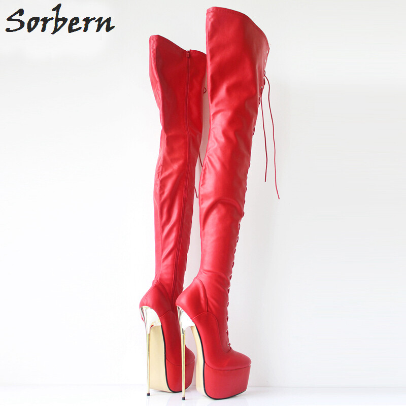 7c31b2262310 30CM Extreme High Heel Metal Heels Platform Boots