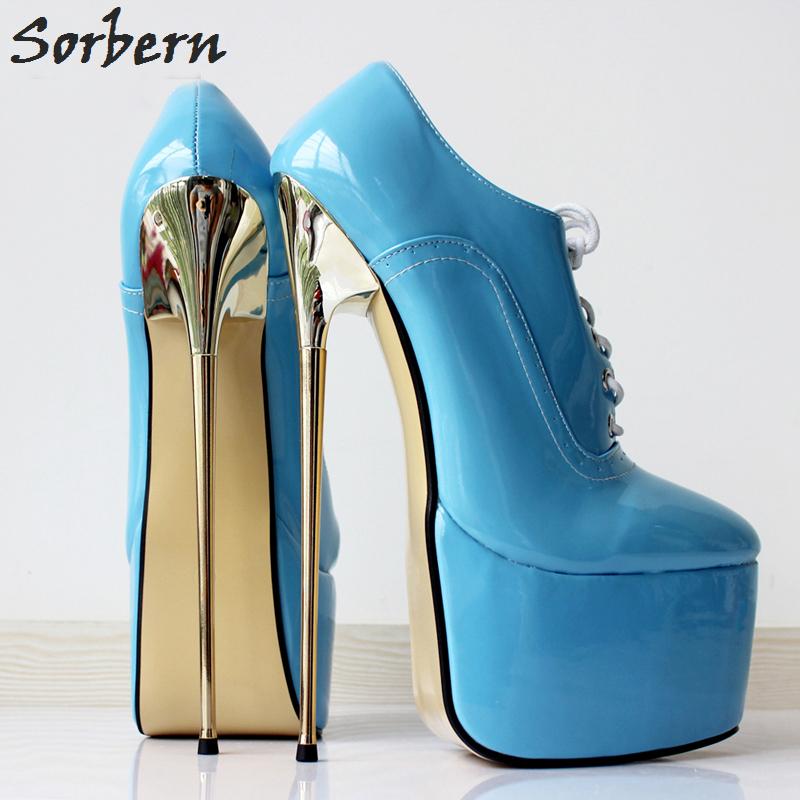 Sorbern New Women Pumps Dress Shoes 22cm High Heel