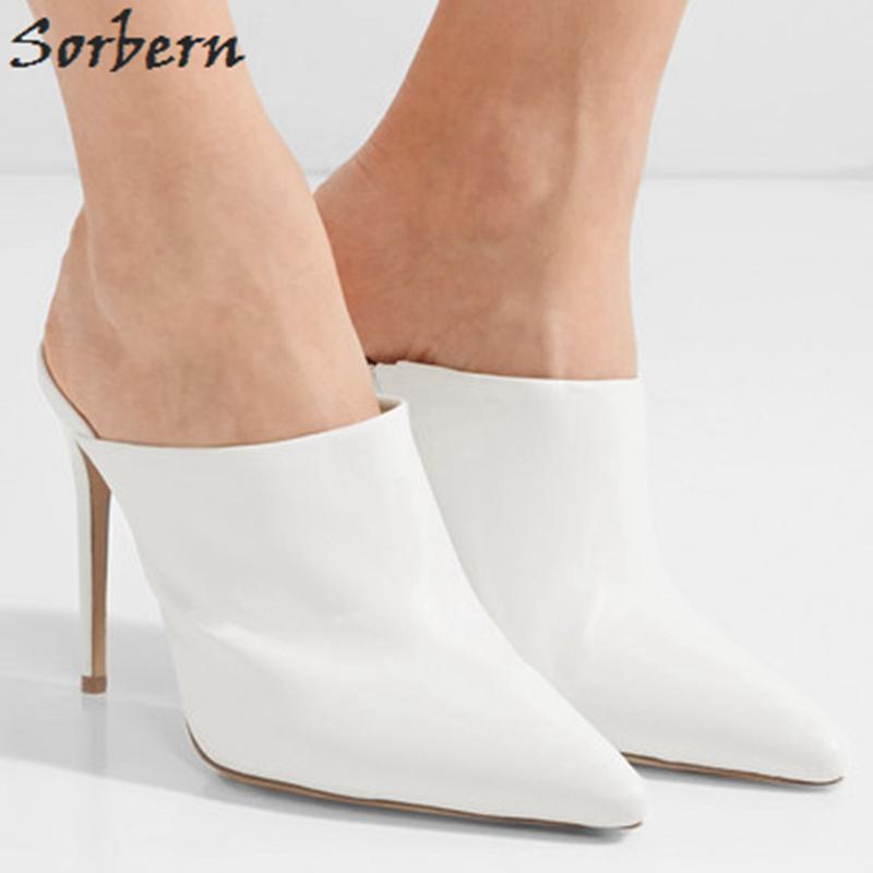 Elegant White Pointed Toe Women