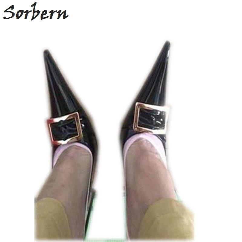 Sorbern Red Heels Height Women Shoe 33 Bow Shoes Cute Round Toe Slip Low Elegant Woman Shoes Summer 12Cm 13Cm 14Cm 15Cm 16Cm