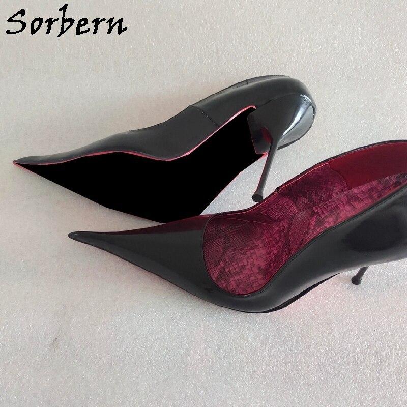 Sorbern Sexy Long Toes Women Pump Steel High Heel Stilettos Slip On Shoes Night Club Footwear Fetish Shoes Ladies Custom Colors