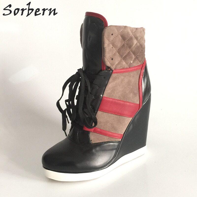 Sorbern Black Crocodile Shiny Women Pump High Heel Metal Stilettos Pointed Toe Slip On Night Club Party Shoes For Crossdresser