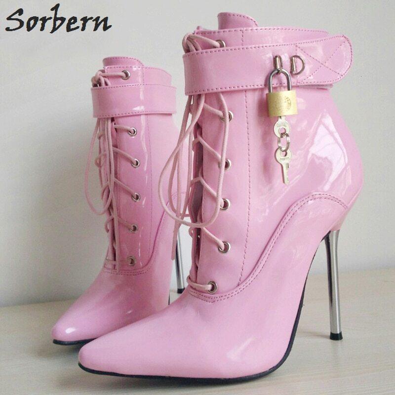 Sorbern Mature Slip On Pump High Heel Mules Pointed Toe Gold Metal Heeled Ol Shoe Hollow Out Side Easy Slip Custom Color