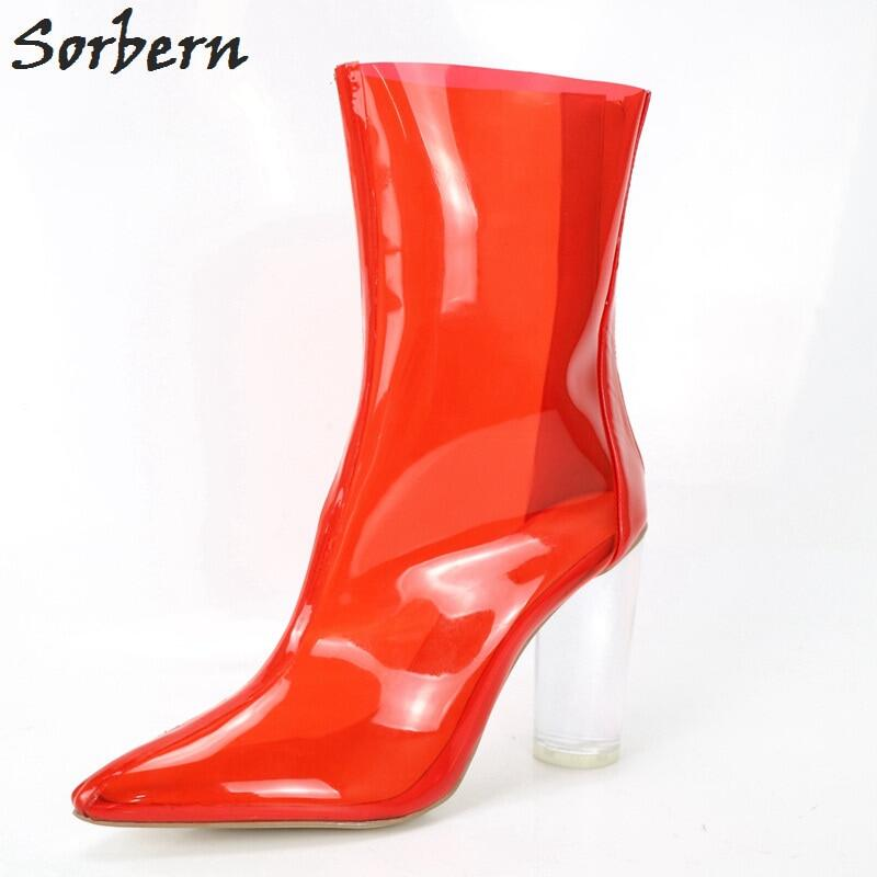 Sorbern Patent Women Booties Ballet High Heel Stilettos Sexy Fetish Shoes Lockable Zipper Ankle Booties Lace Up Custom Colors