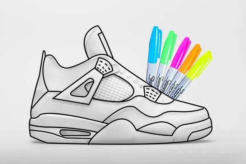 "Do it yourself? The brand new Air Jordan 4 ""DIY"" color scheme is a bit interesting!"