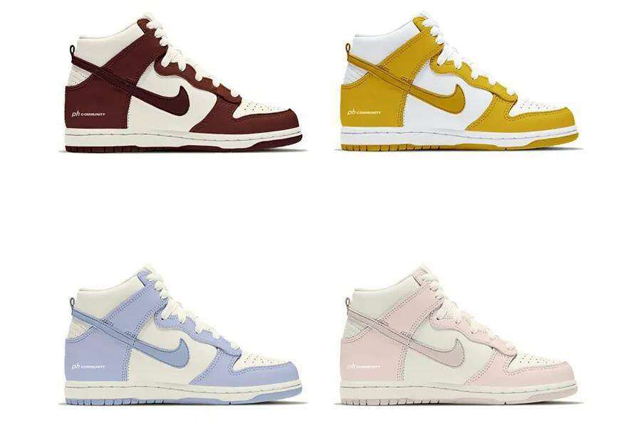 Song Sneaker's latest news Four new Dunk Hi colors will be on sale soon!