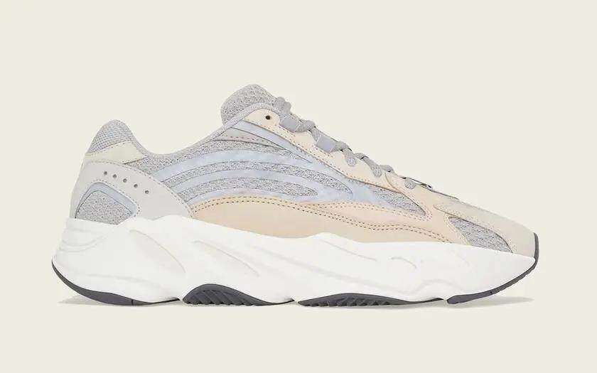 "PK God shares the official image of Yeezy Boost 700 V2 ""Cream"" that looks exactly like the first color matching"